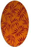 rug #444165 | oval orange natural rug