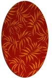 rug #444221 | oval red natural rug