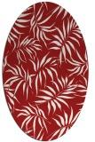 rug #444225   oval red natural rug