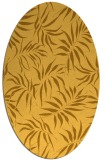rug #444281 | oval yellow natural rug