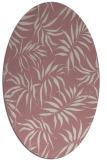 rug #444317 | oval pink rug