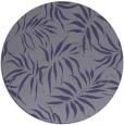 rug #444769 | round blue-violet rug