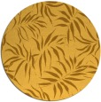 rug #444985 | round yellow natural rug
