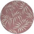 rug #445021 | round pink rug