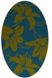 rug #445797   oval blue-green natural rug
