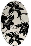 rug #445813   oval blue-green natural rug