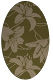 rug #445857 | oval brown rug