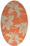 rug #445933 | oval beige natural rug