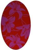 rug #445989   oval red natural rug