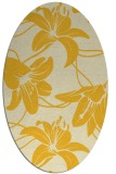 rug #446025 | oval yellow natural rug