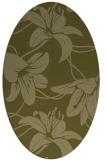 rug #446069 | oval light-green rug