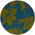 rug #446501 | round blue-green natural rug