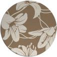 rug #446593 | round beige natural rug