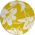 rug #446741 | round yellow popular rug