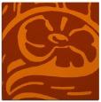 rug #447401 | square red-orange graphic rug