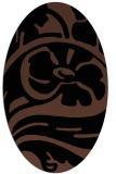 rug #447513 | oval brown rug