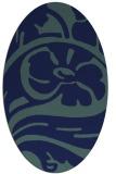 rug #447529 | oval blue abstract rug