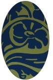rug #447533 | oval blue abstract rug