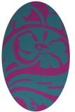 rug #447561   oval pink abstract rug