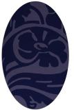 rug #447581 | oval blue-violet graphic rug