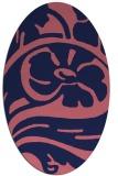 rug #447589 | oval pink graphic rug