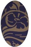 rug #447605 | oval beige abstract rug