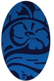 rug #447665 | oval blue abstract rug