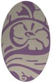 rug #447677 | oval beige abstract rug