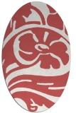 rug #447719 | oval graphic rug