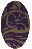 rug #447729 | oval purple abstract rug