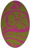 rug #447825   oval light-green abstract rug
