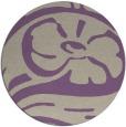 rug #448381 | round purple graphic rug