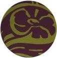 rug #448429 | round green graphic rug