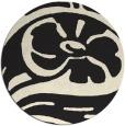 rug #448509   round black rug