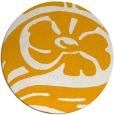 rug #448537 | round light-orange graphic rug