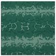 rug #452481   square blue-green animal rug