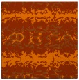 rug #452681 | square red-orange animal rug