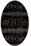 rug #452785   oval black rug