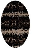 rug #452789 | oval beige animal rug