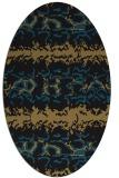 rug #452797   oval black animal rug