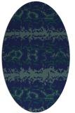 rug #452809 | oval blue animal rug