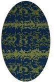 rug #452813 | oval blue animal rug