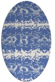 rug #452817 | oval blue animal rug