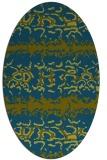 rug #452837   oval green animal rug