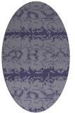 rug #452865   oval blue-violet animal rug