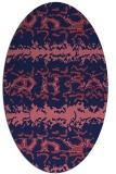 rug #452869 | oval blue-violet popular rug
