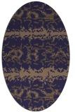rug #452885   oval blue-violet animal rug