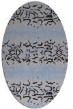 rug #452889 | oval blue-violet rug
