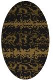 rug #452893   oval black animal rug