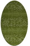rug #452901 | oval green animal rug